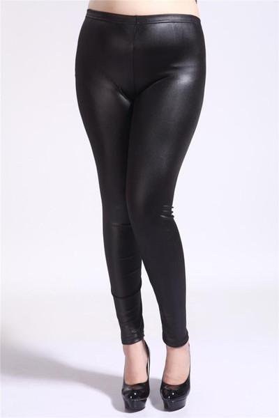 Acheter Nouveau 2019 Femmes High Elastic Thin Faux Cuir Leggings Grande Taille S 5xl Simili Cuir Pantalon Skinny Noir Brillant Plus Leggings De 4367