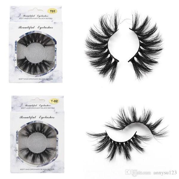 2019 hot 100% 3D Mink lashes Hair 25mm lashes False Eyelashes better than 3d Thick Long Messy Cross Eye Lashes Extension Eye Makeup Tools