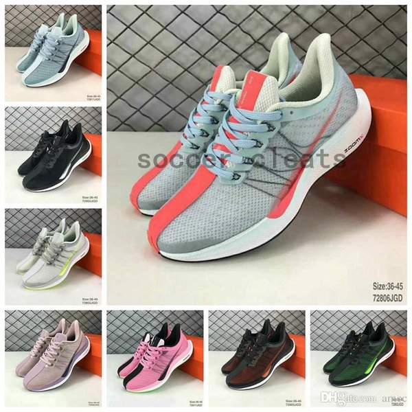 2019 Zoom Pegasus Turbo Barely Grey Punch Negro Blanco Zapatillas De Running Mujer Hombre React ZoomX Vaporfly Pegasus 35 Air Trainers 36 45 Por