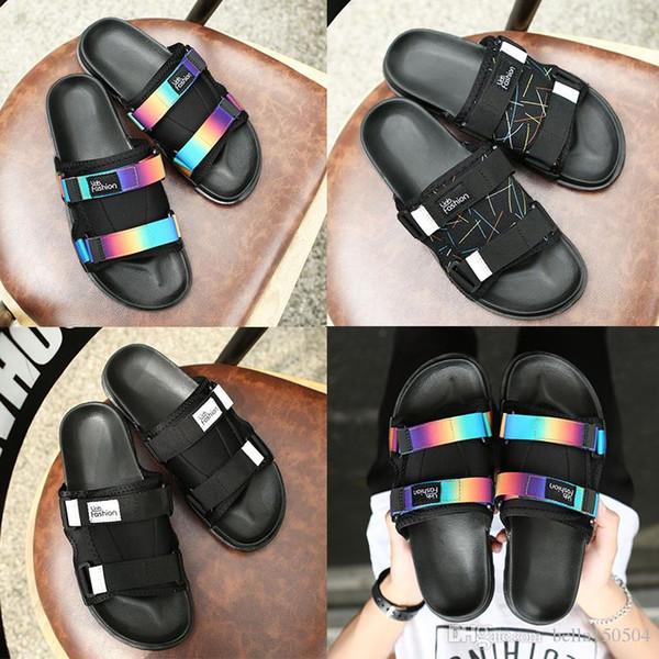 Новый бренд Visvim тапочки шлепанцы мужчины и женщины любители Повседневная обувь тапочки пляж сандалии открытый тапочки хип-хоп уличные сандалии