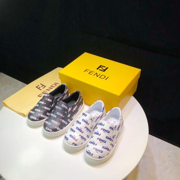 Chaussures de marque pour enfants fashion letter FF chaussures plates tendance luxe garçons filles chaussures pour enfants en gros taille Eur 26-33