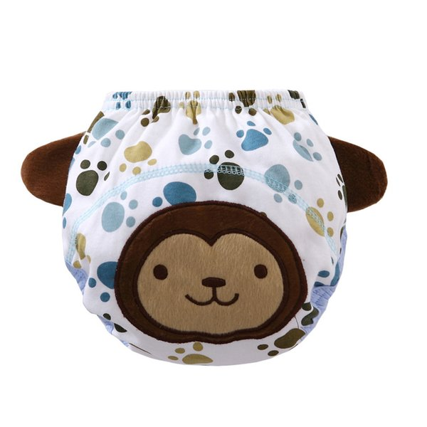 Ruffle Panties Briefs Diaper Animal Cartoon Cover Pants Baby Diaper Washable Newborn reusable nappy liners baby nappies
