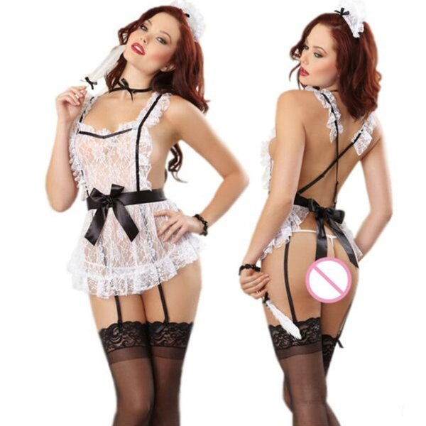 Sexy lingerie underwear lovely Female Maid classical Lace sexy miniskirt lolita maid outfit costume sex products