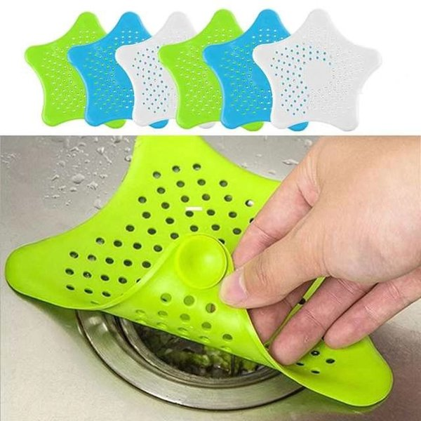 top popular Silicone Sink Filter Kitchen Drain Hair Colanders Strainers Filter for Bathroom Sink Filter Mat Gadgets Home Cleaning Tool 2021