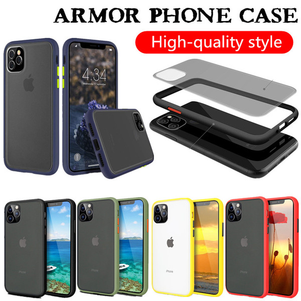top popular Clear Case For Iphone 11 XS MAX XR 11 PRO MAX Samsung S20 Note 10 Pro S10 A71 A01 Armor Case 2020