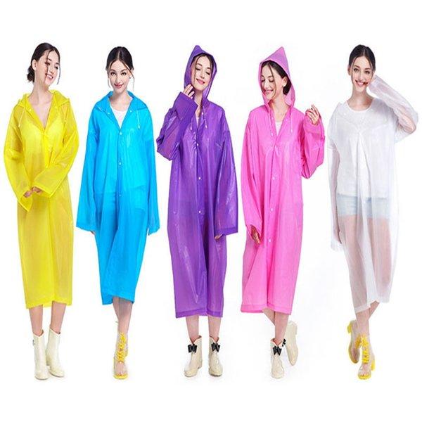 New outdoor hooded one-piece adult raincoat processing custom waterproof rainproof raincoat rain cover for men women