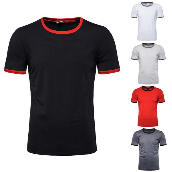 Mens Summer Designer einfarbig T-Shirts Kurzarm Rundhalsausschnitt Mode Homme Tees Casual Quick Dry atmungsaktive Freizeitbekleidung