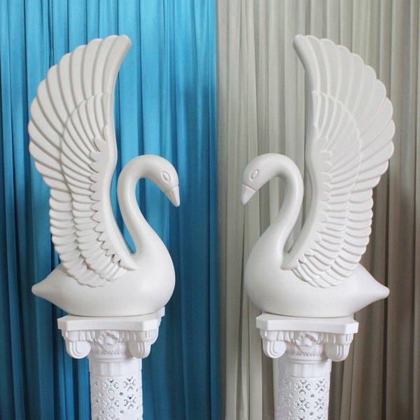 высота 85см Белый лебедь Пластиковые римская колонна Свадебный Runner Aisle Колонка Торговые центры Открытые двери Photo Booth Реквизит