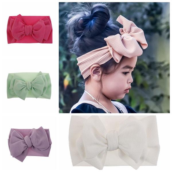 Big Bow Baby Mädchen Stirnband Kinder nehmen photoes Haarzusatz Kinder schöne Haarband 10 Farben bieten wählen