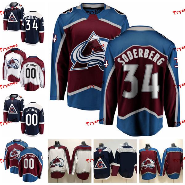 best cheap fb40a 6273b 2019 ado Avalanche Carl Soderberg Mens Stitched Jerseys Customize Alternate  Blue Home Shirts 34 Carl Soderberg Hockey Jerseys From Tryones, $36.65 | ...