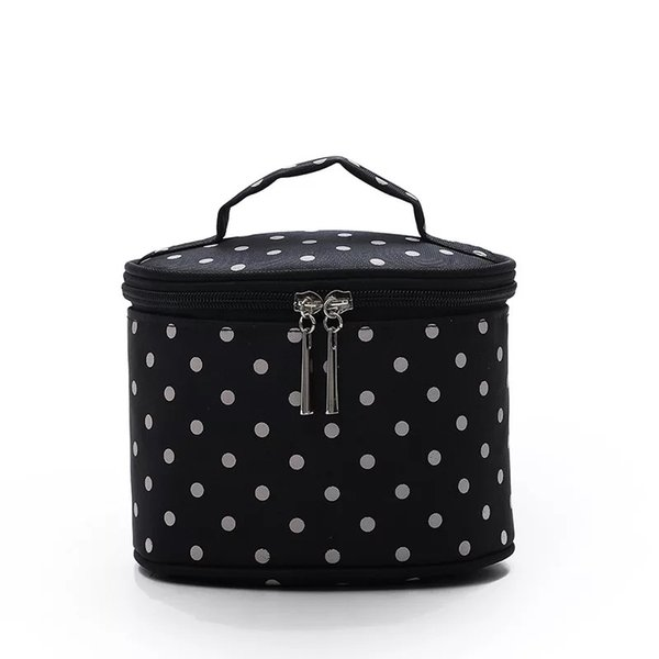 Dot nylon makeup cosmetic box cosmetic bag/zip lock travel bag/beauty cosmetic bag with the best design