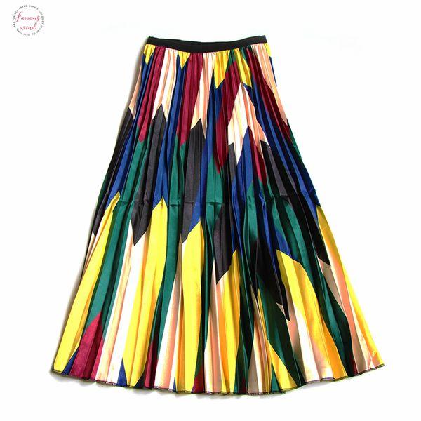 new 2019 fashion skirt female 2019 spring new fashion casual women skirt elastic waist korean style skirts good quality drop shipping