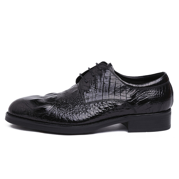 Men Youth Cowhide Leather Shoes Business Dress Shoes Round Toe Work Wear Comfortable Wedding Shoes Men Shoes Youth Cowhide Leather Shoes Business Dress Shoes Round Toe Work Wear Comfortable Wedding Shoes