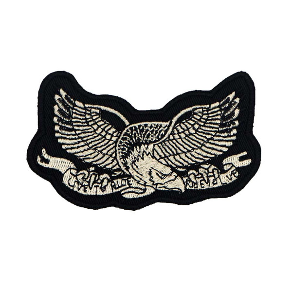 LIVE TO RIDE eagle embroidered iron on backing motorcycle biker patch badge for jacket jeans bags vest 10 pieces /LOT