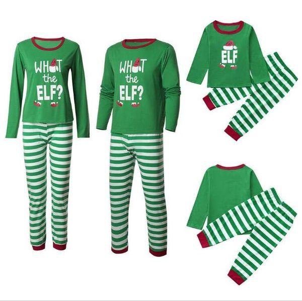 top popular Family Matching Christmas Pajamas Two Pieces Set Red Letters Reindeer Tree Snow Print Desig Nightcloth Pyjamas Sleepwear For Men Women Child 2019