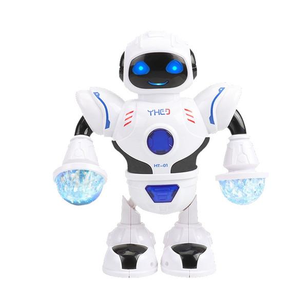 Dancing Robot Elektronische Haustiere Lernspielzeug Shiny LED Blendlampe Kinder Geburtstagsgeschenk Beliebte 15 6yh F1