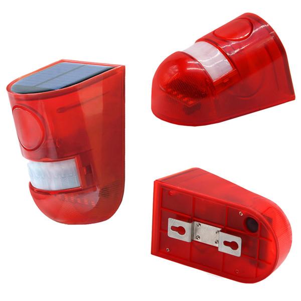 LED-Außenblitzleuchte Außenalarmlampe 110db-Warnton 6led Rotlicht IP65 Wasserdicht Bewegungssensor Vorsicht Lichter Wandleuchte