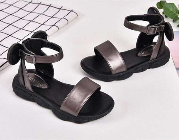 New Kids Sandals Designer Shoes For Baby Girls Black White Beach Toddler Shoes children Shoes Sandals size 26-36