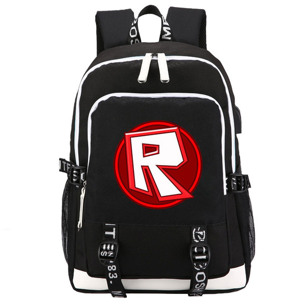 HOT GAME Cartoon Roblox backpack Student School Bags Fashion Leisure Laptopbag for Teenagers USB Charging Gift For Childrens