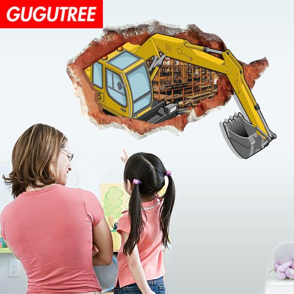 Süslemeleri ev 3D kapmak karikatür sanat duvar sticker dekorasyon Çıkartmaları duvar boyama Çıkarılabilir Dekor Duvar Kağıdı G-842