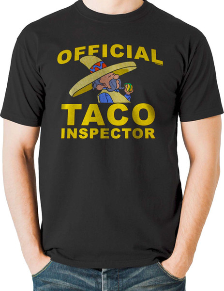 Funny Latino T Shirt Taco Inspector Mexican Food Lover Mens Sizes Small To 6Xl T Shirt For Men Camiseta Basquete Short Sleeve Cotton