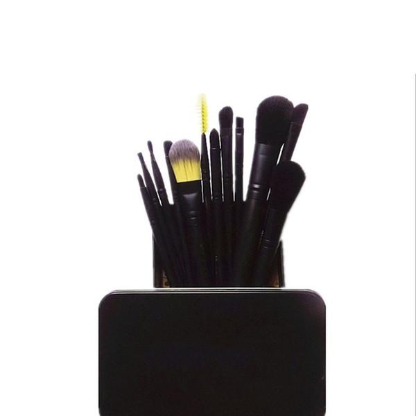 Super hot 2019 MP metal case professional makeup brushes set 12 piece Powder Foundation Eye Shadow Cosmetics Brush kit