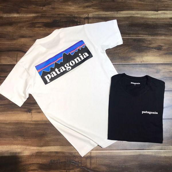 2019ss mujeres diseñador camisetas Patagonia Mountain Print Corea camiseta manga corta de algodón Tops