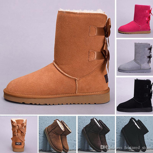 2018 New Original WGG winter Australia Classic snow Boots tall boots Bailey Bowknot women's bailey bow Knee Boots s mens Designer Shoes