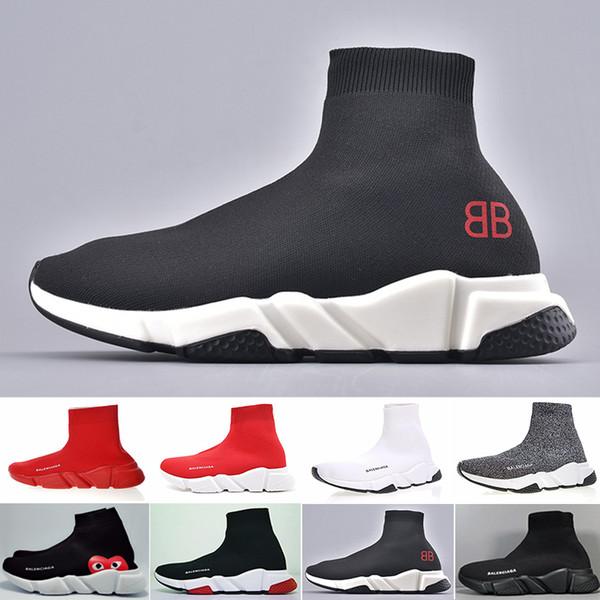 ACE Designer повседневная обувь для носков Speed Trainer Черный Красный Тройной Черный Модные носки Тапки Тренер повседневная обувь 36-45 H69KN-P2