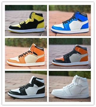 NIKE Air Jordan 1 Retro 1 Chicago weiß rot Top 3 Schwarz Bred Toe Basketball Schuhe Schatten Herren Turnschuhe 1s Royal Sneakers mit Schuhen Box Michael Sports