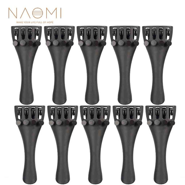NAOMI 10PCS Violin Tailpiece 4/4 Violin Carbon Fiber Tailpiece W/ 4 Tuners 4/4 Violin Part & Accessories High Quality New