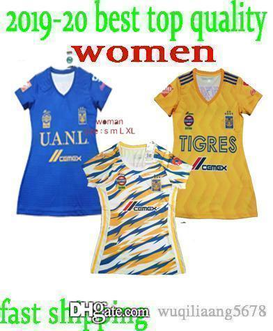 Tigres UANL home away Gray women Soccer Jersey 18 19 GIGNAC Liga MX female football shirts