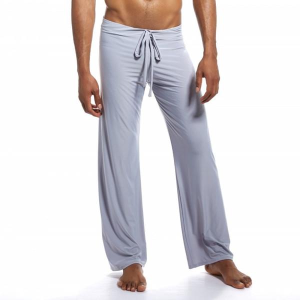 Pajamas for men sexy underwear men tie leggings comfortable home sleepwear leisure wide feet pajamas male sleep bottom roupas