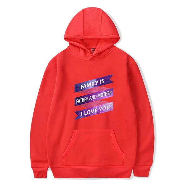 Hoodies Father and Mother Sweatshirts Women/Men Hooded Harajuku Printed pullovers family I Love You Hoodies Mens Sweatshirts