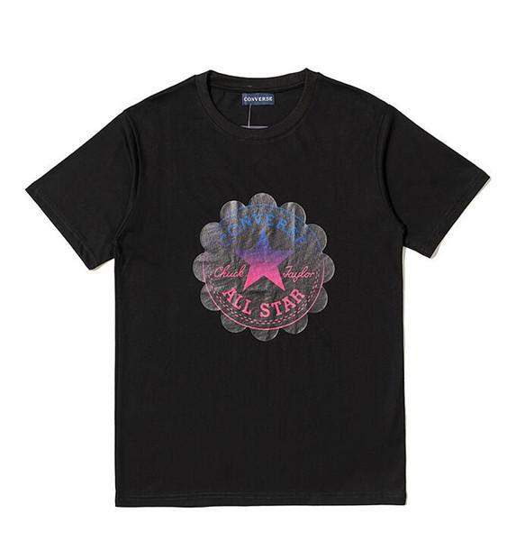 2019 moda nuevos hombres de verano camiseta de manga corta T-shirt camiseta clásica cómoda cuello redondo diseño casual imprimir camiseta top