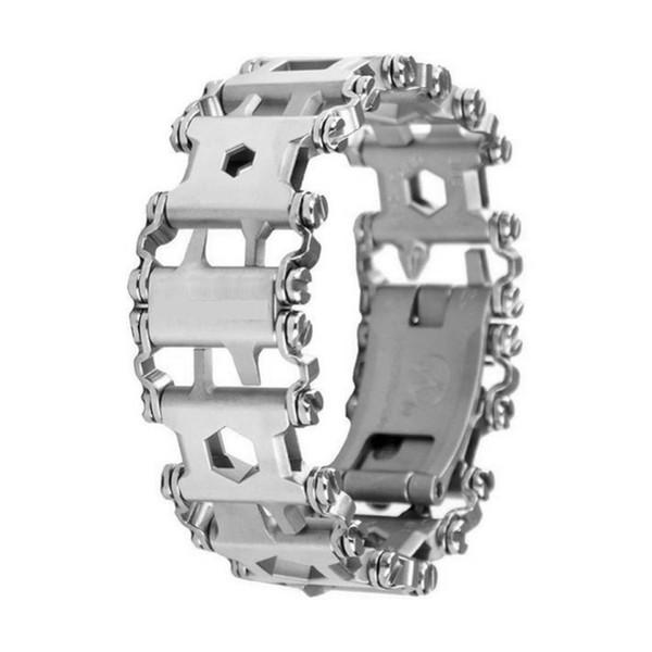 Braccialetto multifunzionale per battistrada Kit di strumenti per bulloni in acciaio inossidabile per esterno Multitool indossabile da viaggio