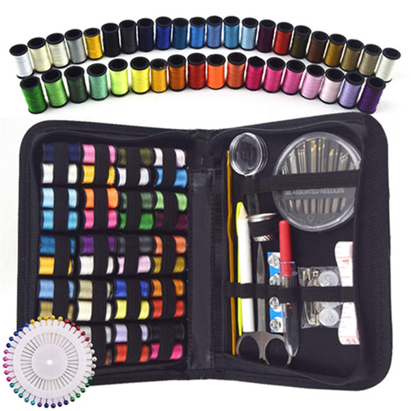 128pcs Travel Sewing Kit needle and thread kit for sewing Mending kit Sewing with Bag for DIY Beginners Craft Tools