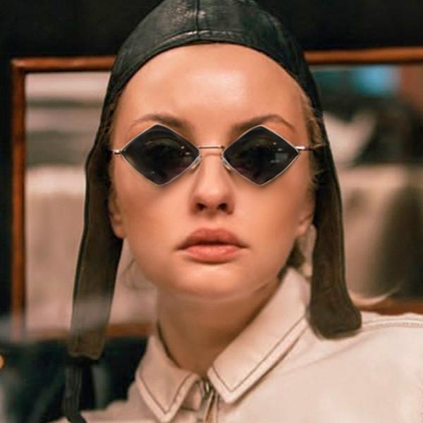 90er Jahre Hippie Vintage Sonnenbrille für Frauen Männer Festival Rave Party Diamant Designer Sonnenbrille Damen Brillen rot rosa Brillen