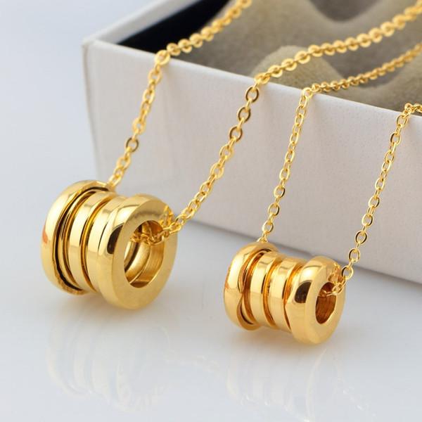 Hot Brand Classic Spring Necklace Lockets Fashion Titanium Steel Women Men Lover Clavicle Chain Bulgaria Big Small Necklaces & Pendants