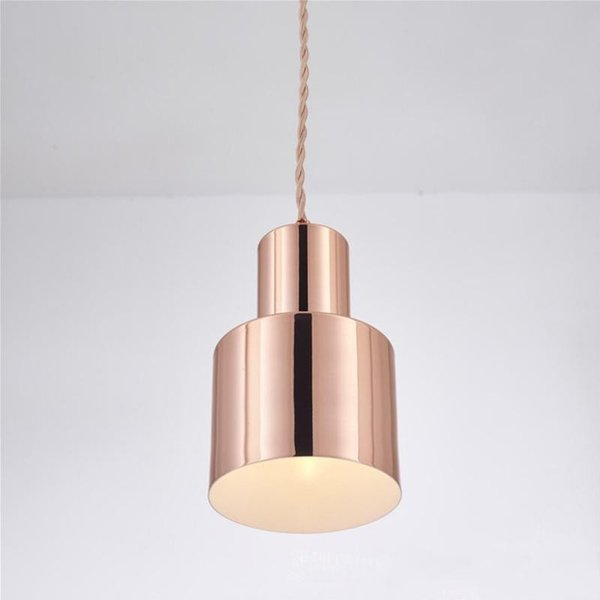 Moderne simple design unique suspension en métal E27 LED suspendu lumières lampe de cuisine hôtel lampe pendente pour salle à manger