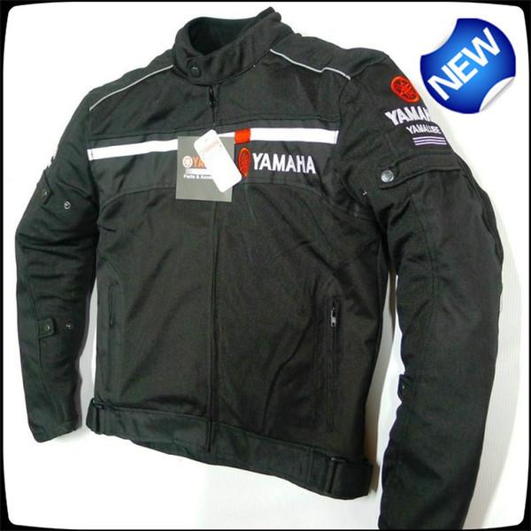 estate maglia di abbigliamento Via Motocicletta Equitazione giacca casual per Yamaha posteriore antistrappo progettazione riflettente nero / bianco Giacche