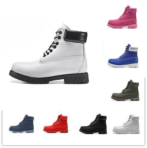 concepteur de luxe hommes femmes bottes Chestnut triple mode bleu marine plate-forme des hommes de Martin botte chaussures de marche de jogging en plein air botte cru