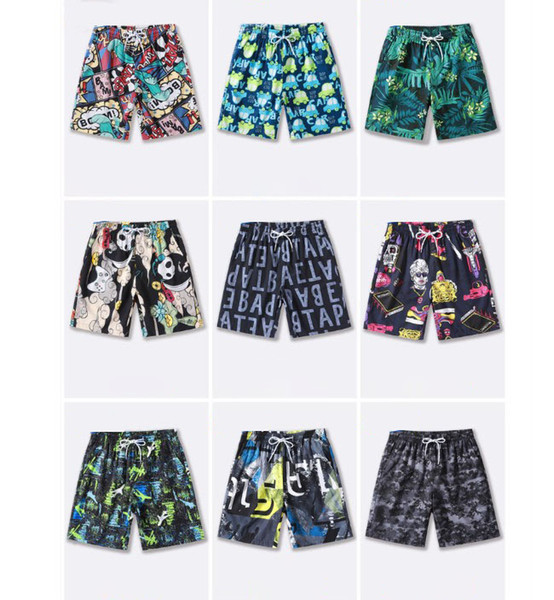 Men Summer Casual Shorts 2019 New Quick-drying Casual Shorts Mens Printing Tide Sports Shorts Men's Beach Pants Plus Size M-4XL 9 Styles
