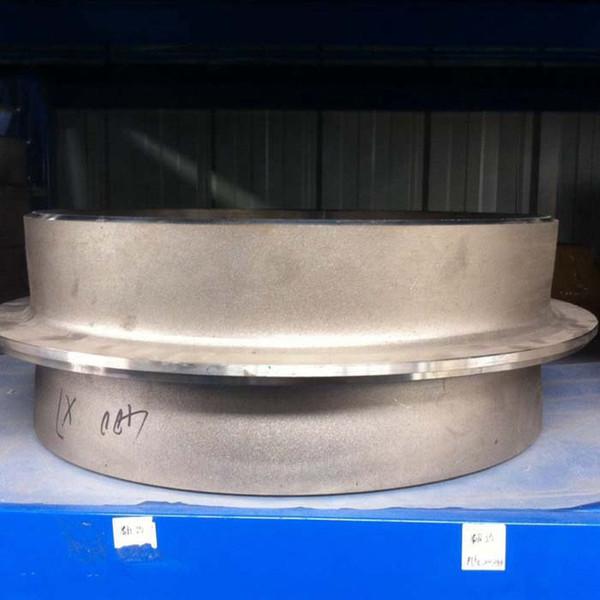 Endüstriyel astm b 337 gr2 titanyum boru montaj dirsek / kapak / saplama ucu dikişsiz lap ortak flanş kısa desen saplama sonu