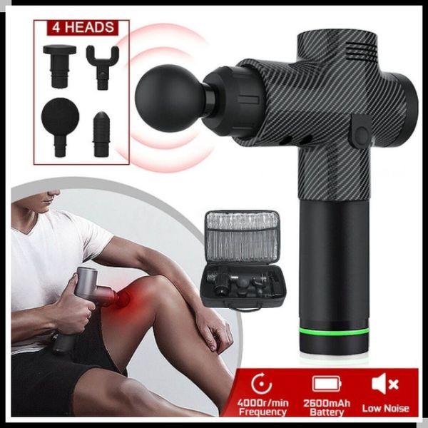 Min.1set 20 Скорость мышц Массажер терапия Массаж Gun Глубокий вибрации мышц Relaxer С 6 Сменные головки высокой частоты