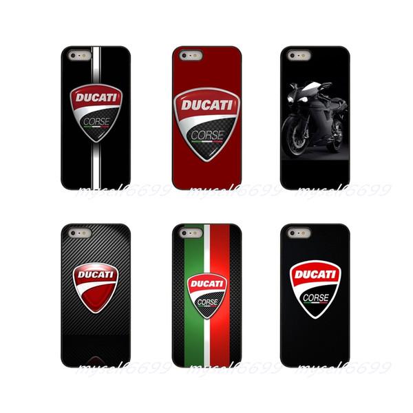 Ducati Moto Logo Sert Telefon Kılıfı Kapak Apple iPhone Için X XR XS MAX 4 4 S 5 5 S 5C SE 6 6 S 7 8 Artı ipod touch 4 5 6