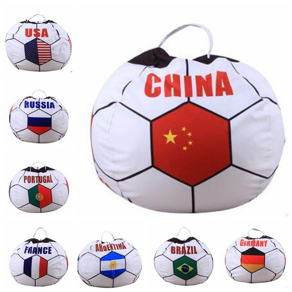 Awe Inspiring 2019 World Cup Storage Stuffed Bean Bag 26Inch Us Chair Portable Kids Toy Storage Bag Polyester Play Mat Clothes Home Organizer From Tjtj2 9 05 Creativecarmelina Interior Chair Design Creativecarmelinacom