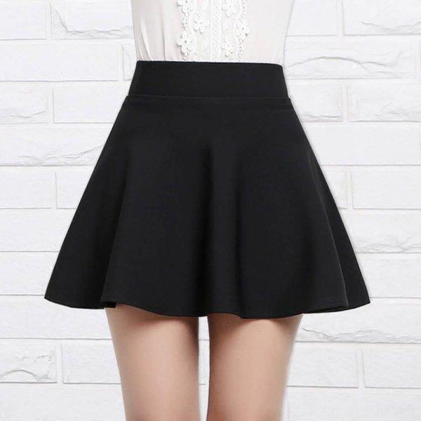 Negro de la falda corta con pantalones de seguridad
