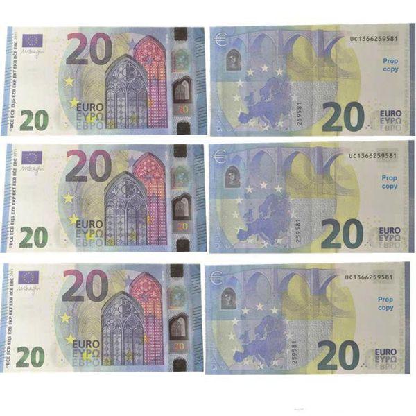 Em 2019 Prop euro Dinheiro 10, euros falsificados, dinheiro falso contando dinheiro crianças para filme, vídeo filme