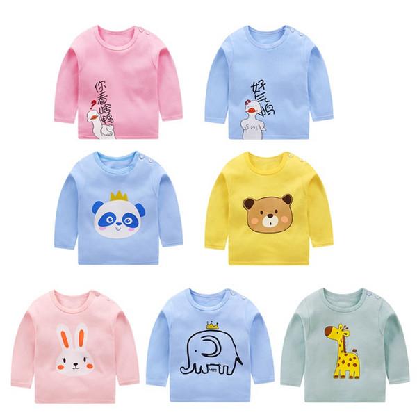 Autunno Inverno Bambini Felpa Tops Nuovo pullover Tee a maniche lunghe T-shirt delle ragazze dei neonati